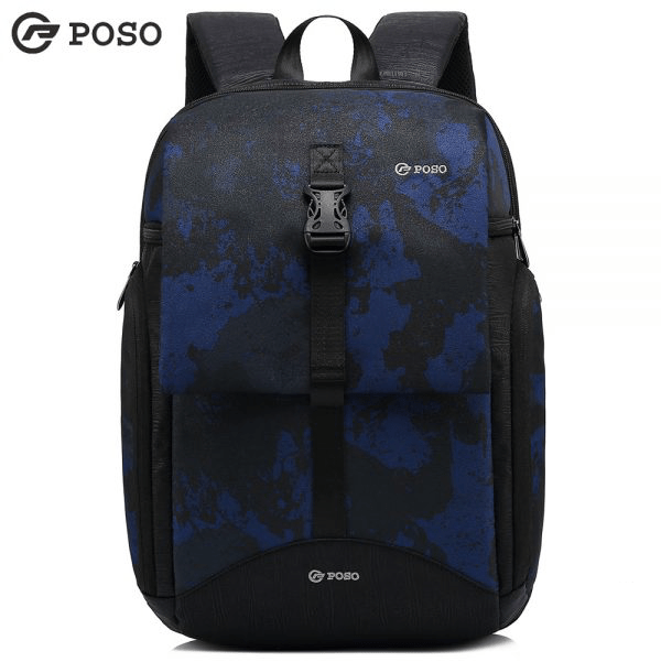Poso 612 Fashion Laptop Backpack Casual Camouflage Outdoor Travel Bag 15.6 Inch