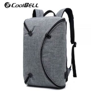 Coolbell CB-8003 Water Resistant Shockproof 15.6 Inch Laptop Backpack with External USB Port Unique Design